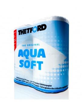 Туалетная бумага для биотуалетов AQUA SOFT, 4 рулона