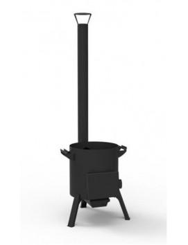 Печь-очаг для казана на 12 литров, с трубой, топкой и поддувом