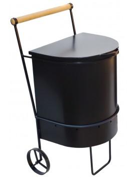 Печь для сжигания садового мусора, на колесах