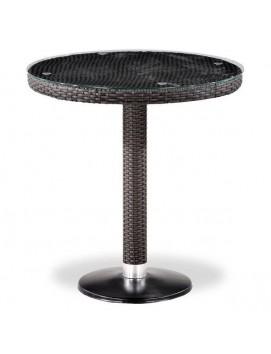 Стол Афина T504T из искусственного ротанга со стеклянной столешницей, 70 см
