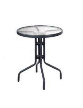 Стол  Афина CDT01 металлический со стеклянной столешницей, 60 см