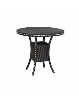 Стол кофейный Монсанто из искусственного ротанга со стеклянной столешницей