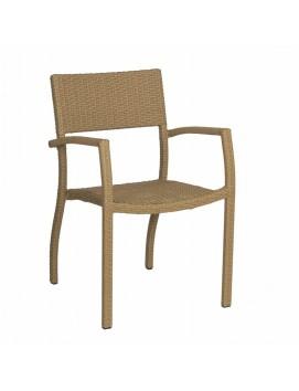 Кресло Сенеж из искусственного ротанга