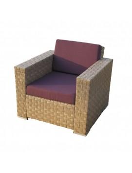 Кресло Куб из искусственного ротанга