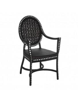 Кресло Монсанто из искусственного ротанга