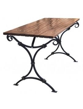 Стол Авен металлический с деревянной столешницей, 120/150/180/200/300 см