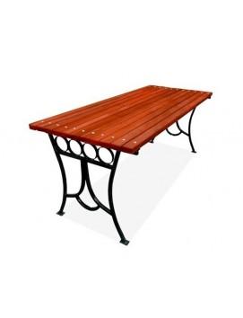 Стол Олимп металлический с деревянной столешницей,120/150/200/300 см