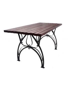 Стол Флора металлический с деревянной столешницей, 120/150/180/200/300 см