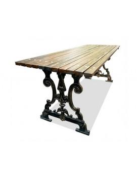 Стол Ампир чугунный с деревянной столешницей, 150/180/200/300 см