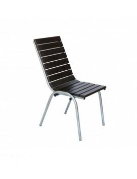 Кресло Вишня деревянное на стальном каркасе