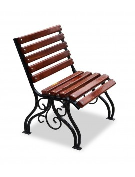 Кресло Вена деревянное на стальном каркасе