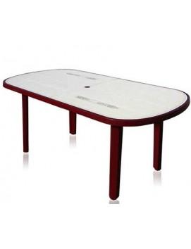 Стол Овальный с рисунком пластиковый, 180 см