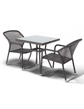 Комплект мебели из искусственного ротанга Корто стол и 2 стула