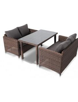 Комплект мебели Макиато Дабл из искусственного ротанга