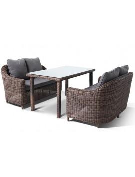 Комплект мебели Кон Панна Дабл из искусственного ротанга