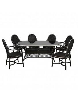 Комплект плетенной мебели Монсанто на 6 персон из искусственного ротанга
