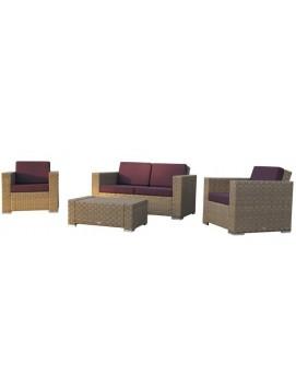 Комплект плетенной мебели Куб из искусственного ротанга