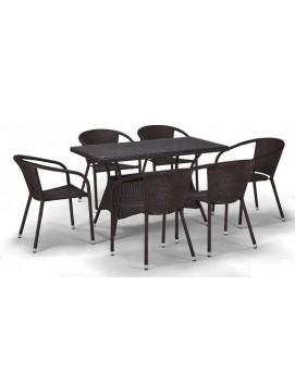 Комплект мебели T198D из искусственного ротанга