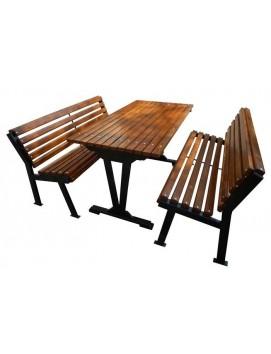 Набор мебели Модерн сталь и сосна