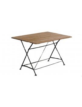 Стол складной прямоугольный ковка и дуб 120/150 см