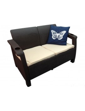 Диван Tweet Sofa 2 из штампованного пластика