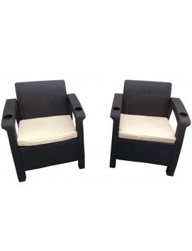 Комплект мебели Tweet Double из штампованного пластика