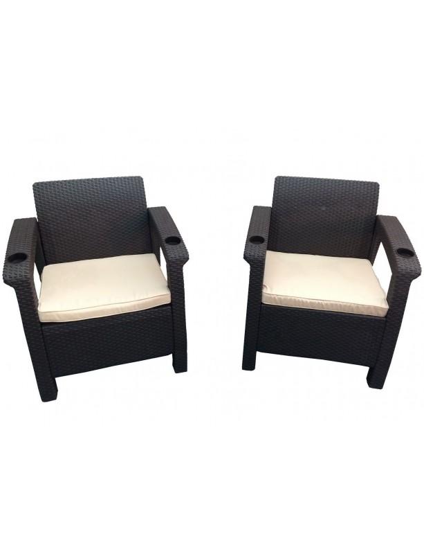 Комплект мебели Yalta Double из штампованного пластика