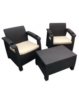 Комплект мебели Tweet Balcony Set из штампованного пластика