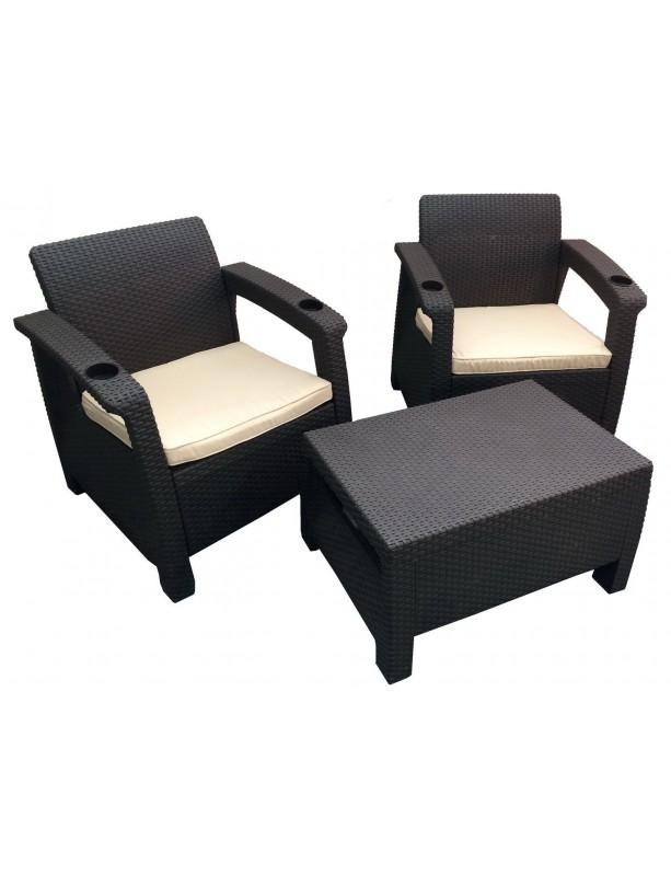 Комплект мебели Yalta Balcony Set из штампованного пластика
