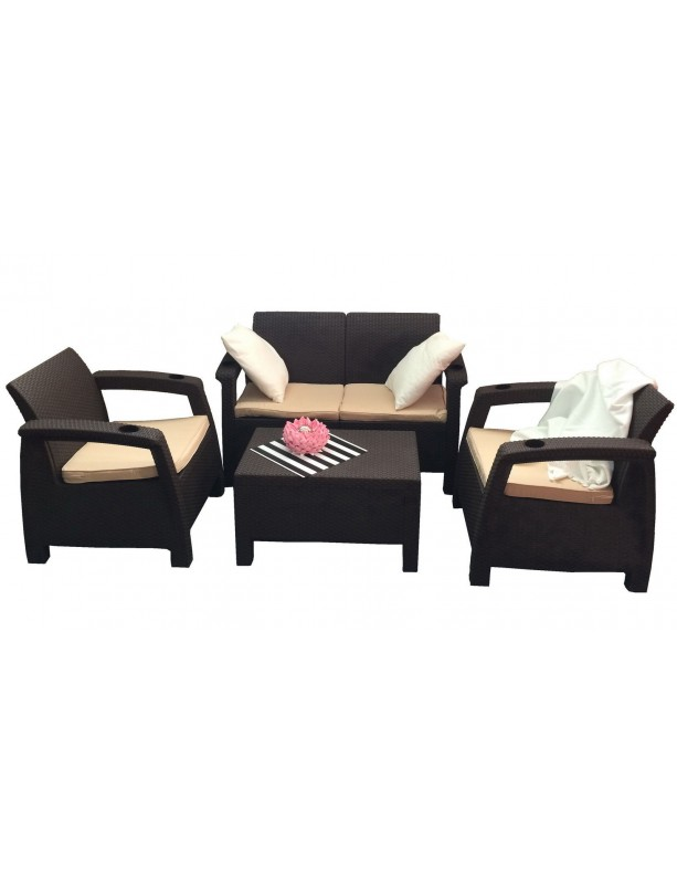 Комплект мебели Yalta Terrace Set из штампованного пластика