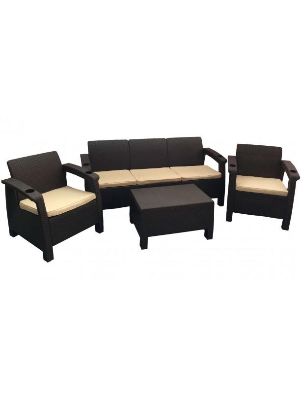 Комплект мебели Yalta Terrace Set  Max из штампованного пластика