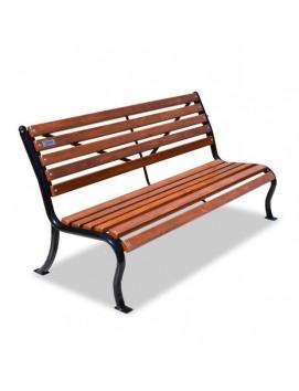 Скамейка Мой двор деревянная на стальном каркасе, 120/150/180/200/300 см