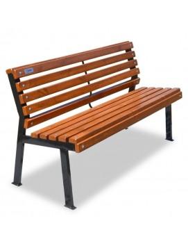 Скамейка Модерн деревянная  на стальном каркасе, 120/150/180/200/300 см