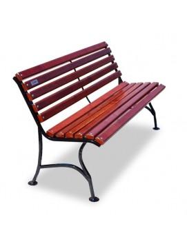 Скамейка Элегант деревянная на стальном каркасе, 120/150/180/200/300 см