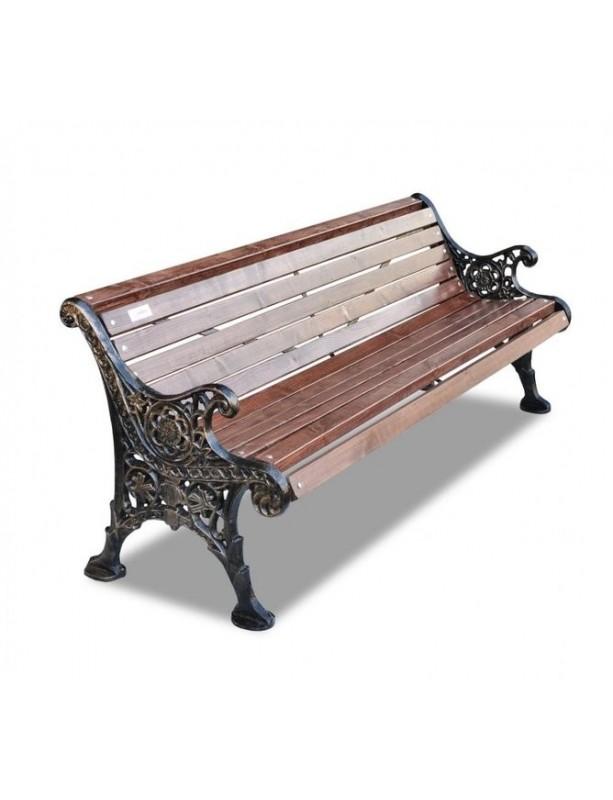 скамейка ажурная деревянная на чугунном каркасе 150180200300 см