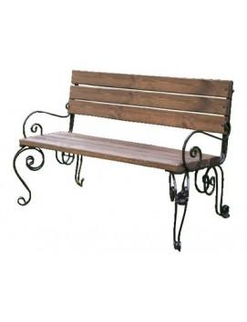 Скамейка Praga деревянная на металлическом каркасе, 120/150 см
