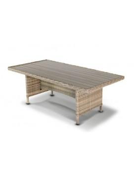 Стол Цесена из искусственного ротанга с деревянной столешницей, 200 см