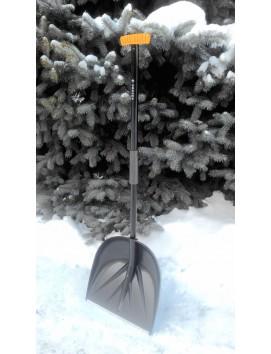 Высокопрочная снеговая лопата  САНТА черная