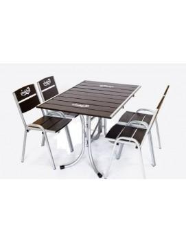 Набор мебели Петергоф 120 сталь и сосна
