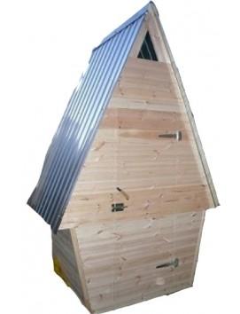 Деревянный туалет шалаш К-3