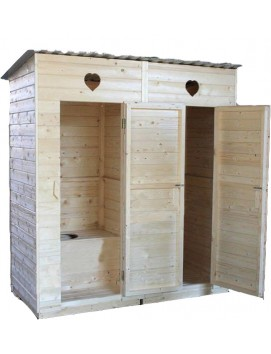 Деревянный туалет-хозблок