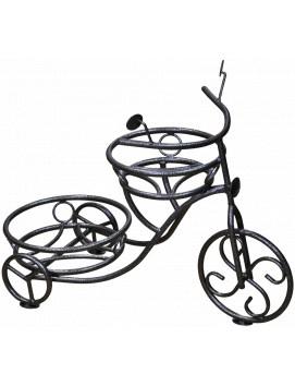 """Подставка металлическая для двух горшков """"Велосипед"""" черный"""