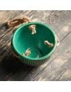 """Кашпо керамическое подвесное """"Майя"""" зеленое вид сверху"""