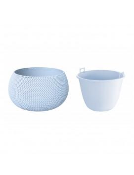 Кашпо для цветов Splofy Bowl 9 л цвет голубой