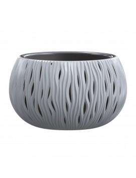 Кашпо для цветов Sandy Bowl 9 л цвет серый