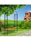 Арка садовая металлическая 863-01R с лавкой