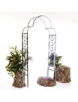 Арка садовая металлическая 863-02R с подсветкой