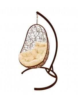 """Подвесное кресло-кокон """"Овал"""" ротанг коричневый"""